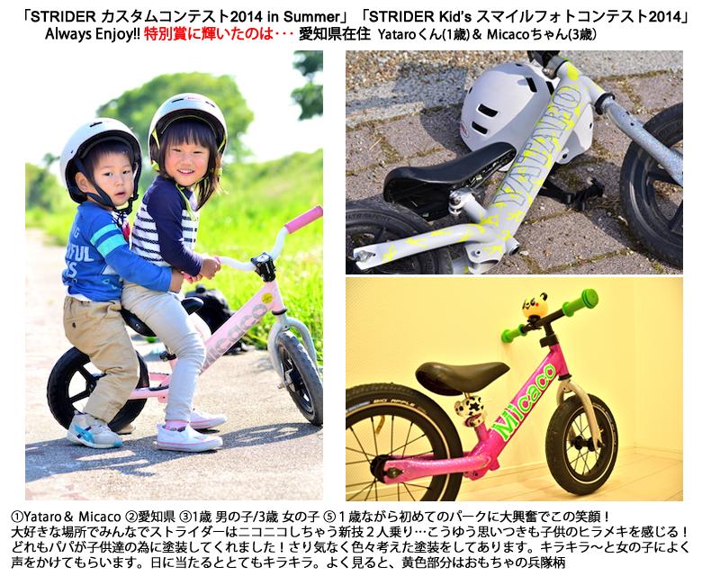 Always Enjoy!!特別賞 入賞作品の発表!「STRIDER コンテスト2014」 フルペイントストライダー