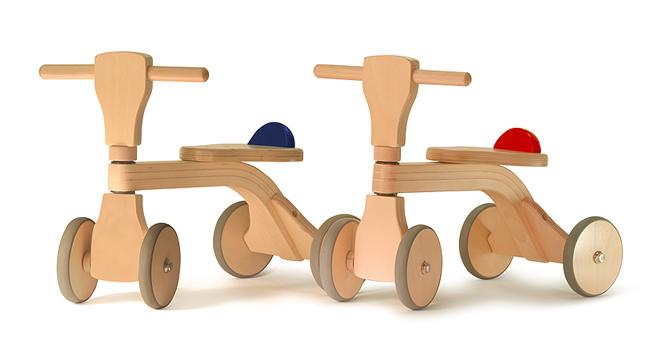 ベビー用 木の乗り物 木製 【乗用玩具】 出産祝い・1歳の誕生日プレゼントに! 02